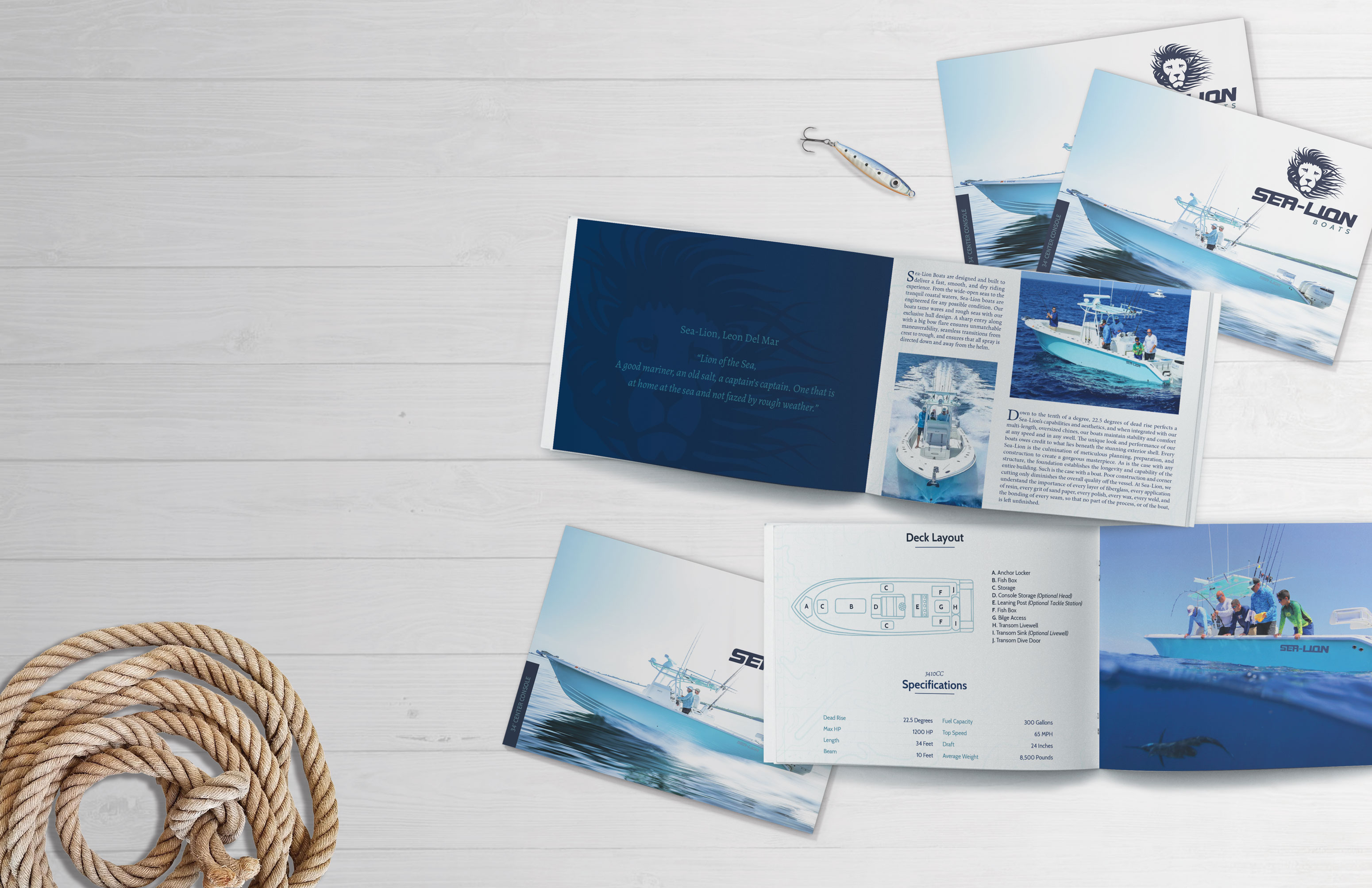 boating brochure design