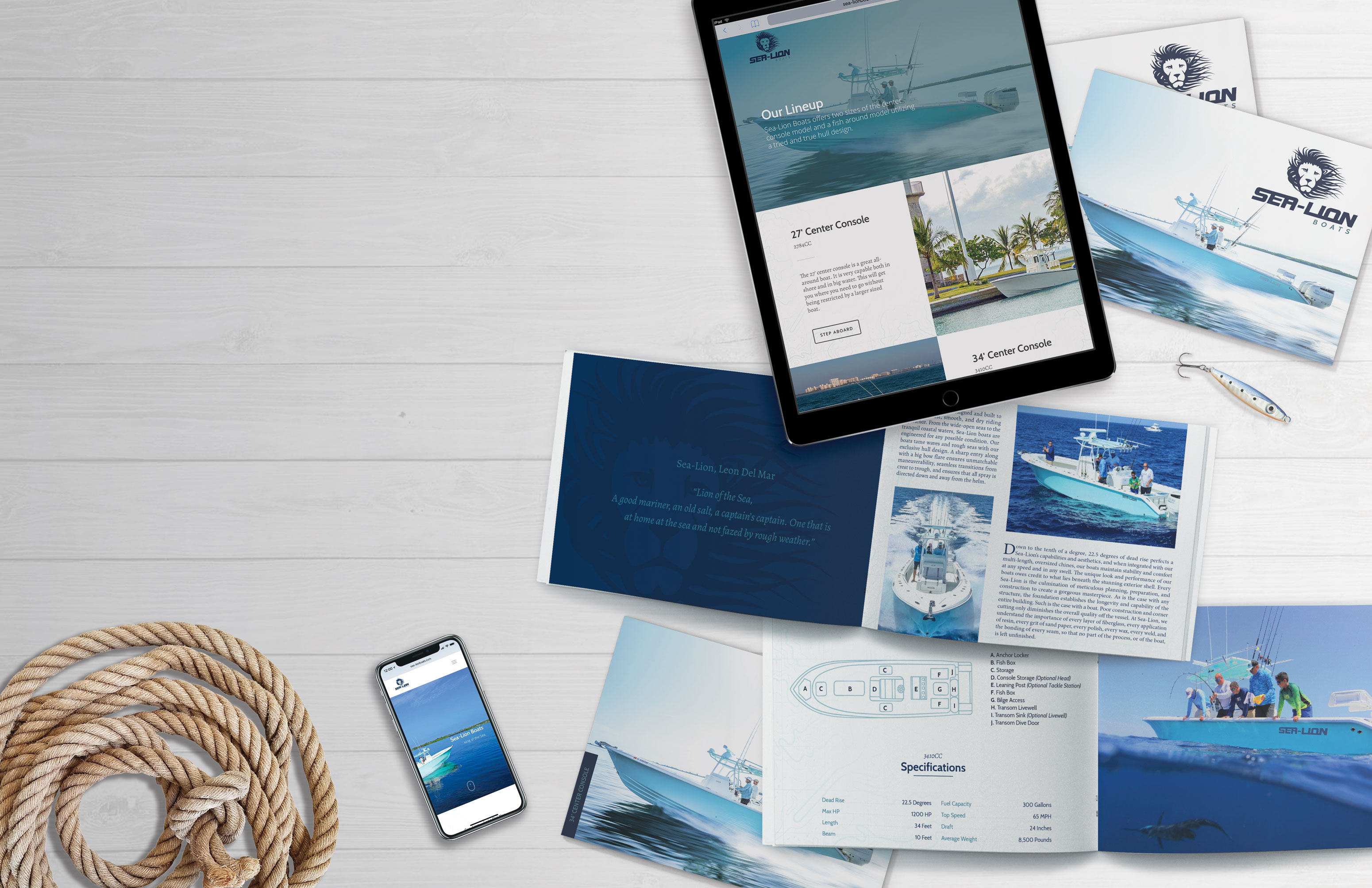 boating branding marketing materials