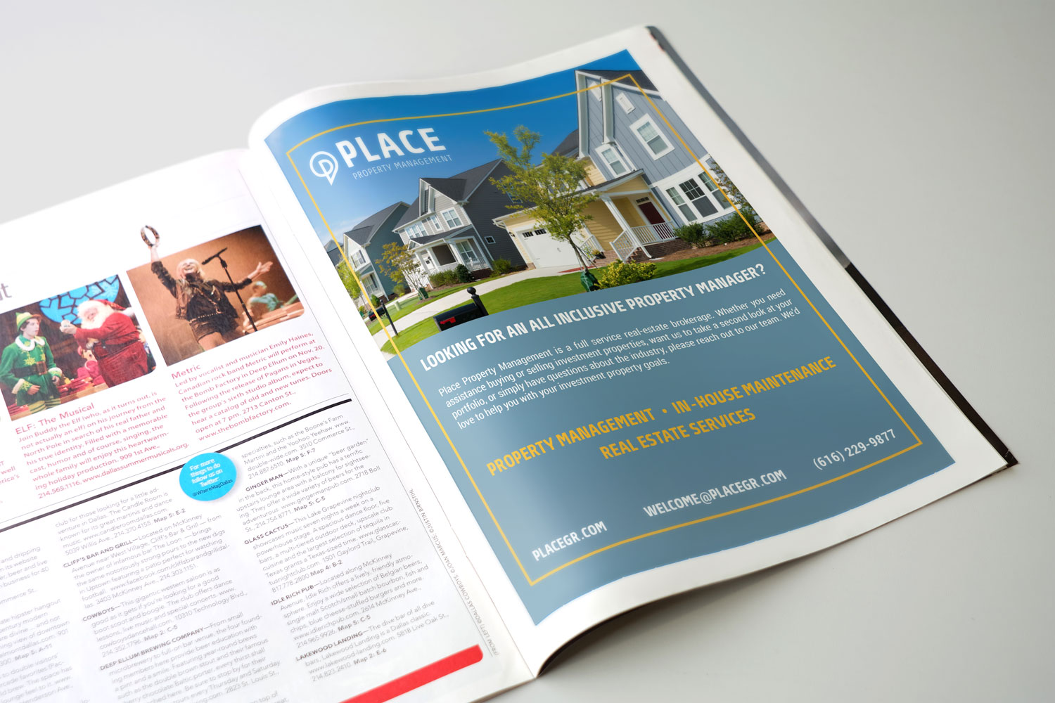 real estate magazine ad design