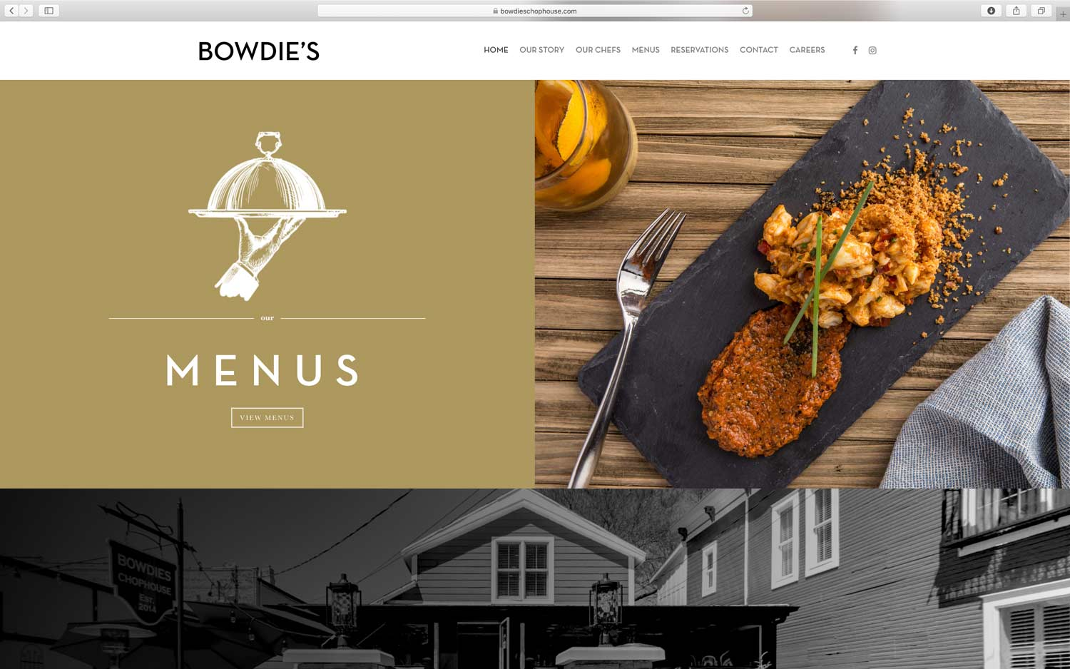 restaurant website beautiful custom photography