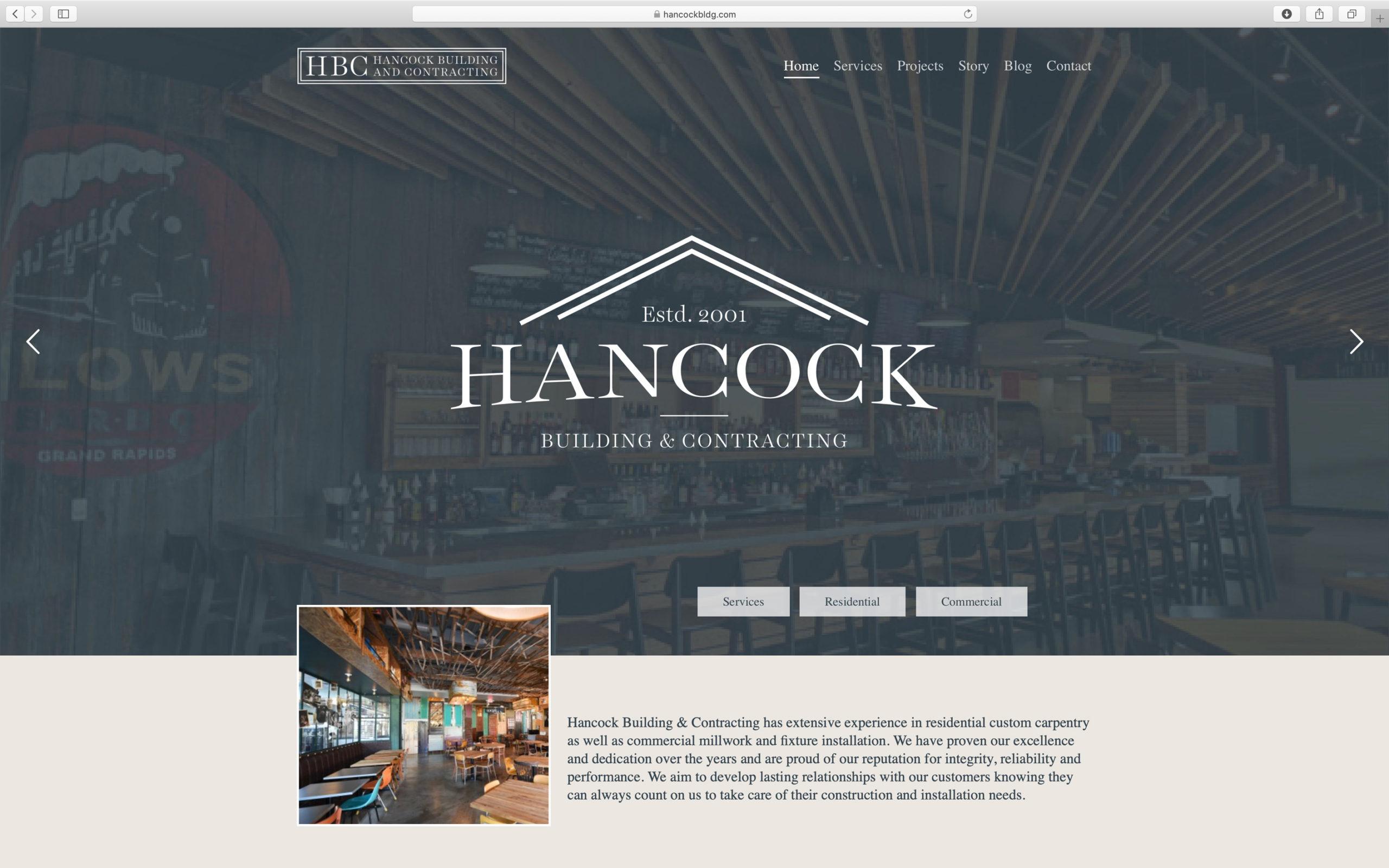 elegant construction website design home page