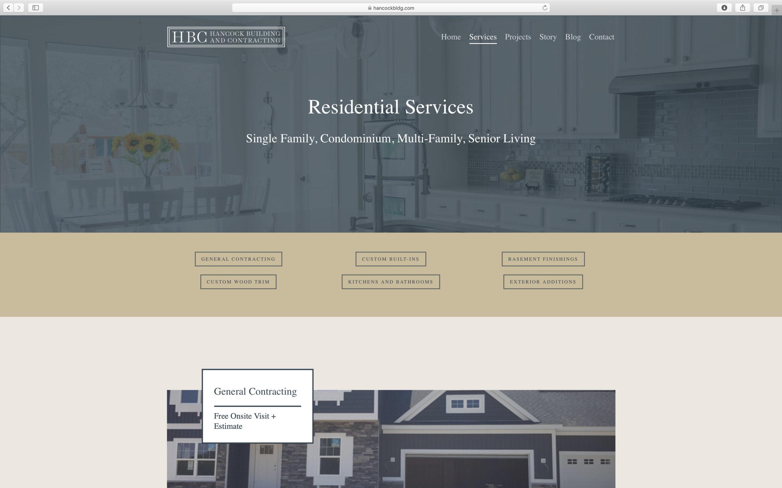 elegant builder website design