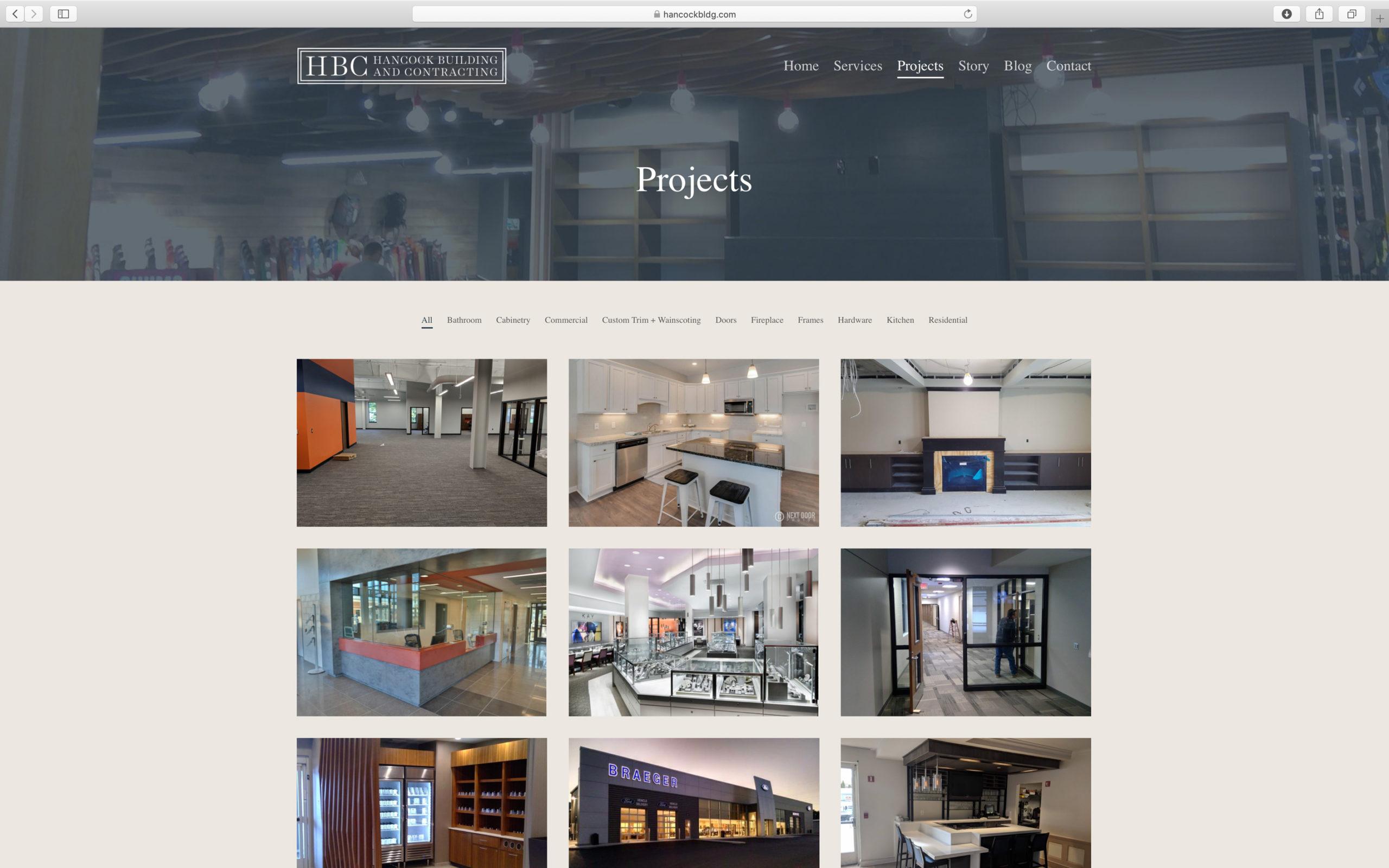 elegant portfolio website design builder