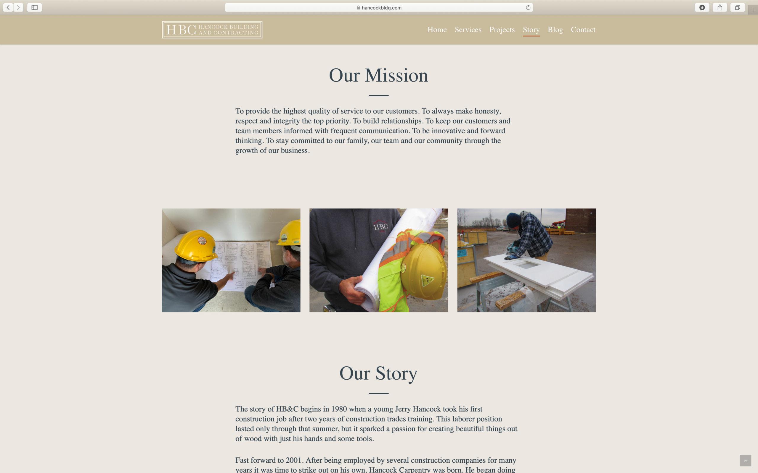 beautiful construction website design