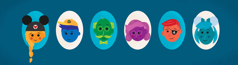 disney family illustration cute mickey ears
