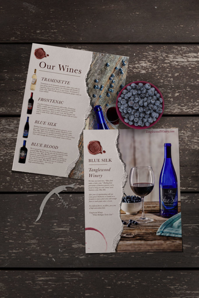 michigan winery marketing design materials