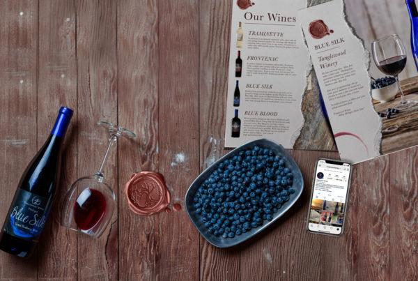 michigan winery marketing design materials