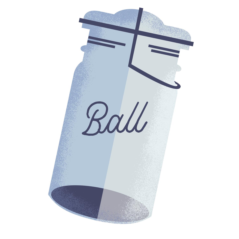 cute ball jar minimal illustration