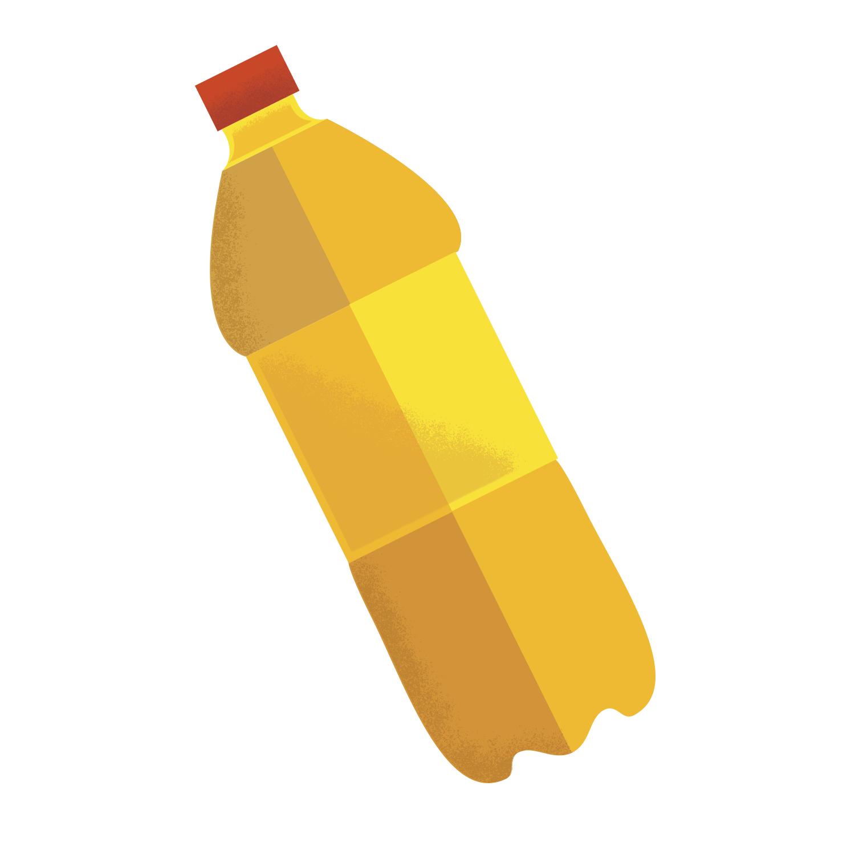 cute minimal bottle illustration
