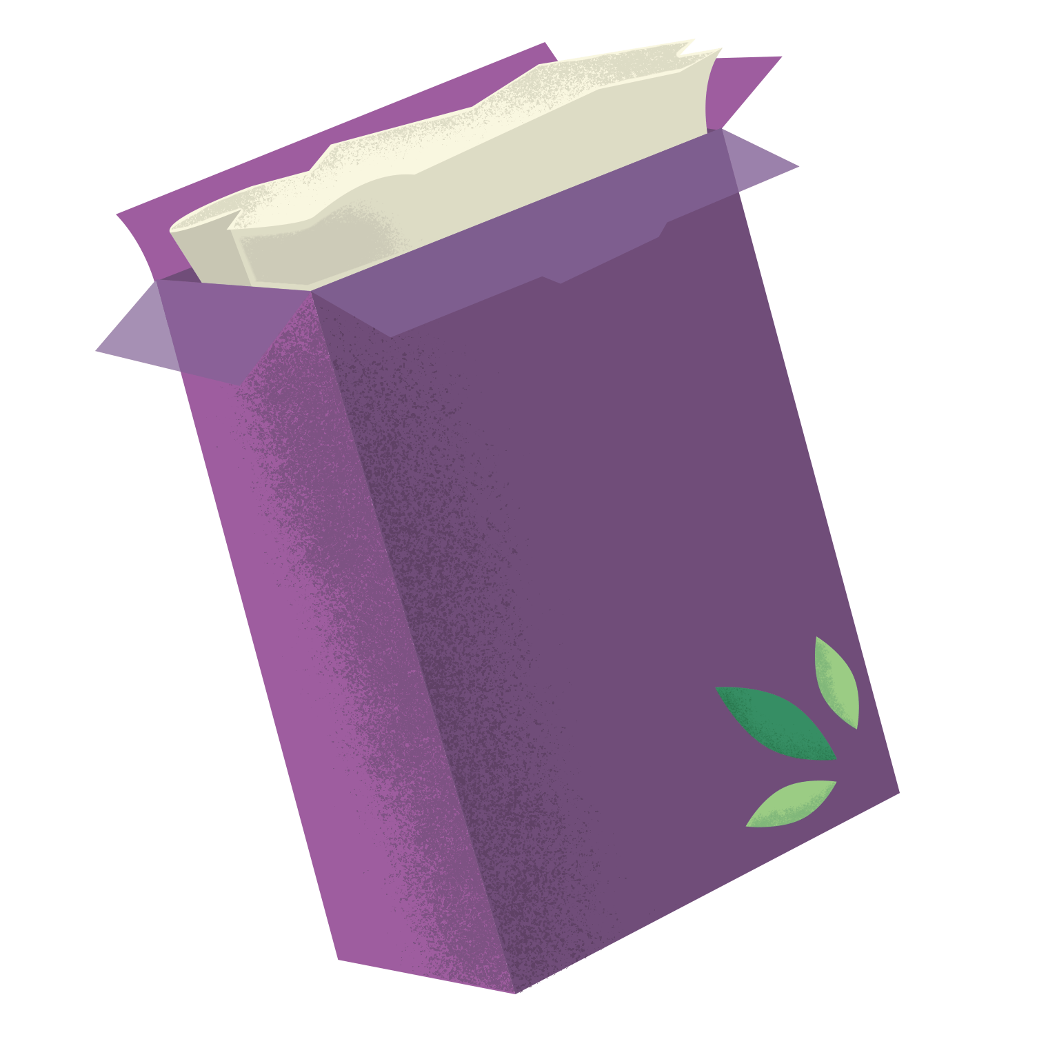 cute minimal cereal box illustration