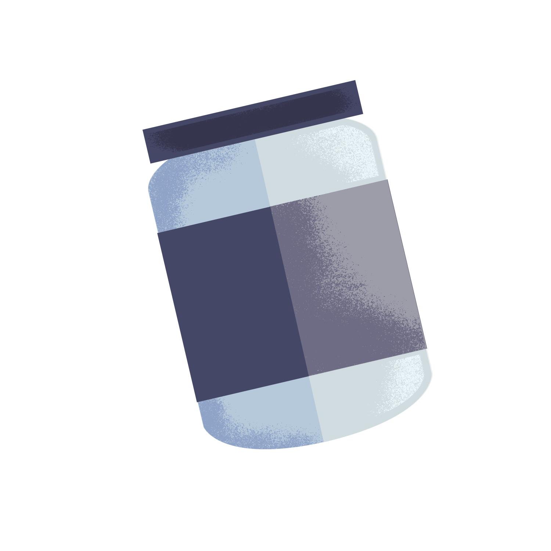 cute simple jar illustration