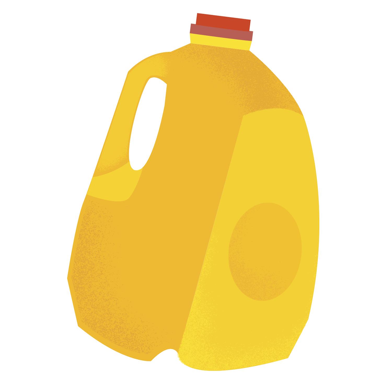 cute simple milk jug illustration
