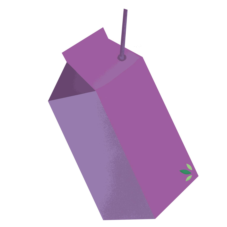 cute simple orange juice illustration
