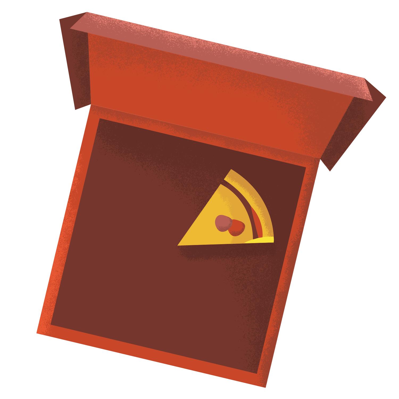 cute simple pizza box illustration