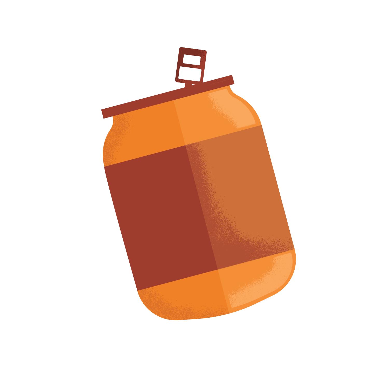 cute simple soda can illustration