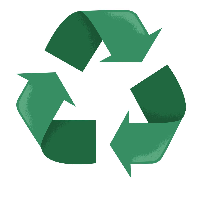 cute Recycling logo illustration
