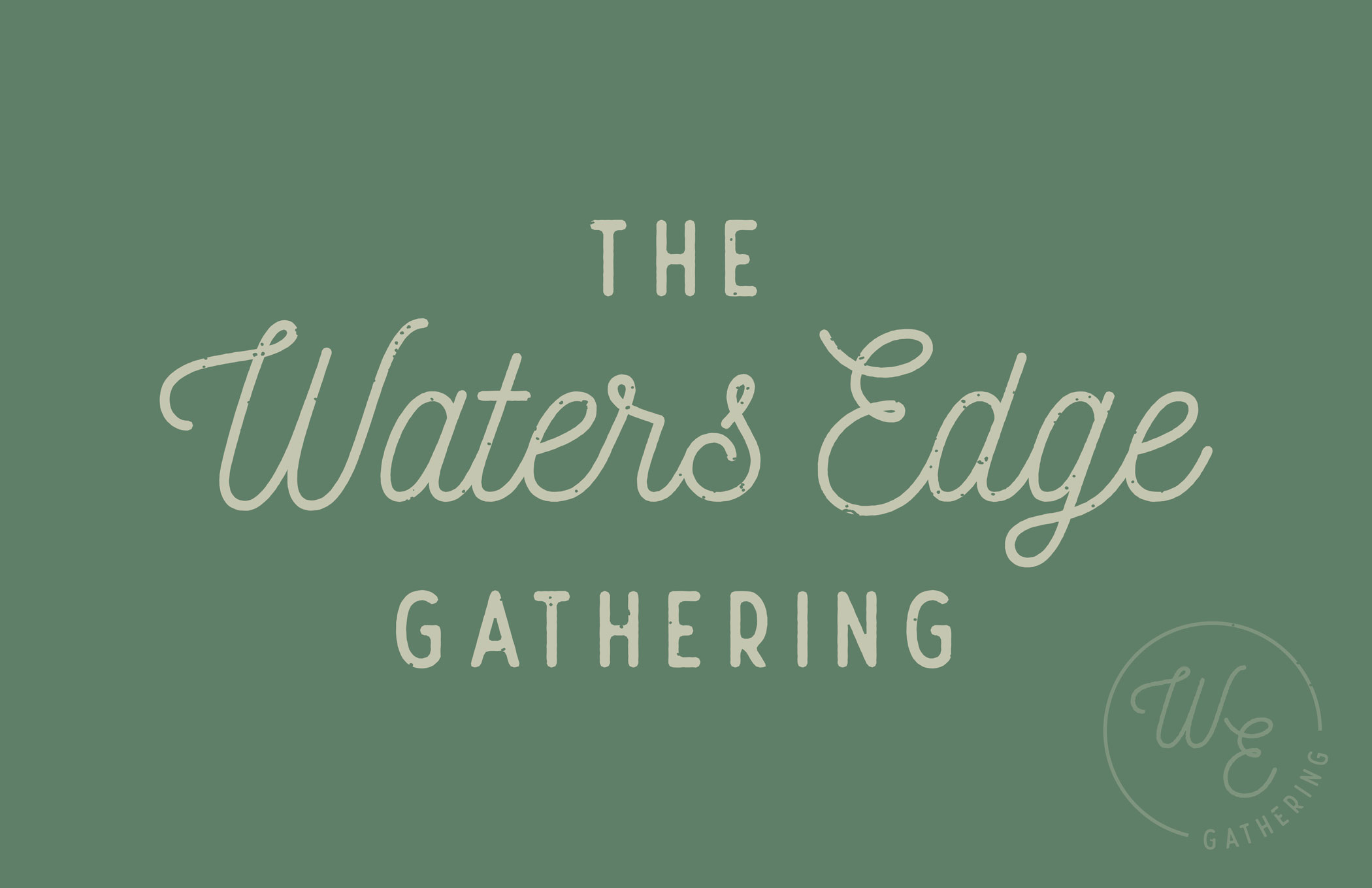 church logo design for waters edge gathering in Grand Rapids michigan