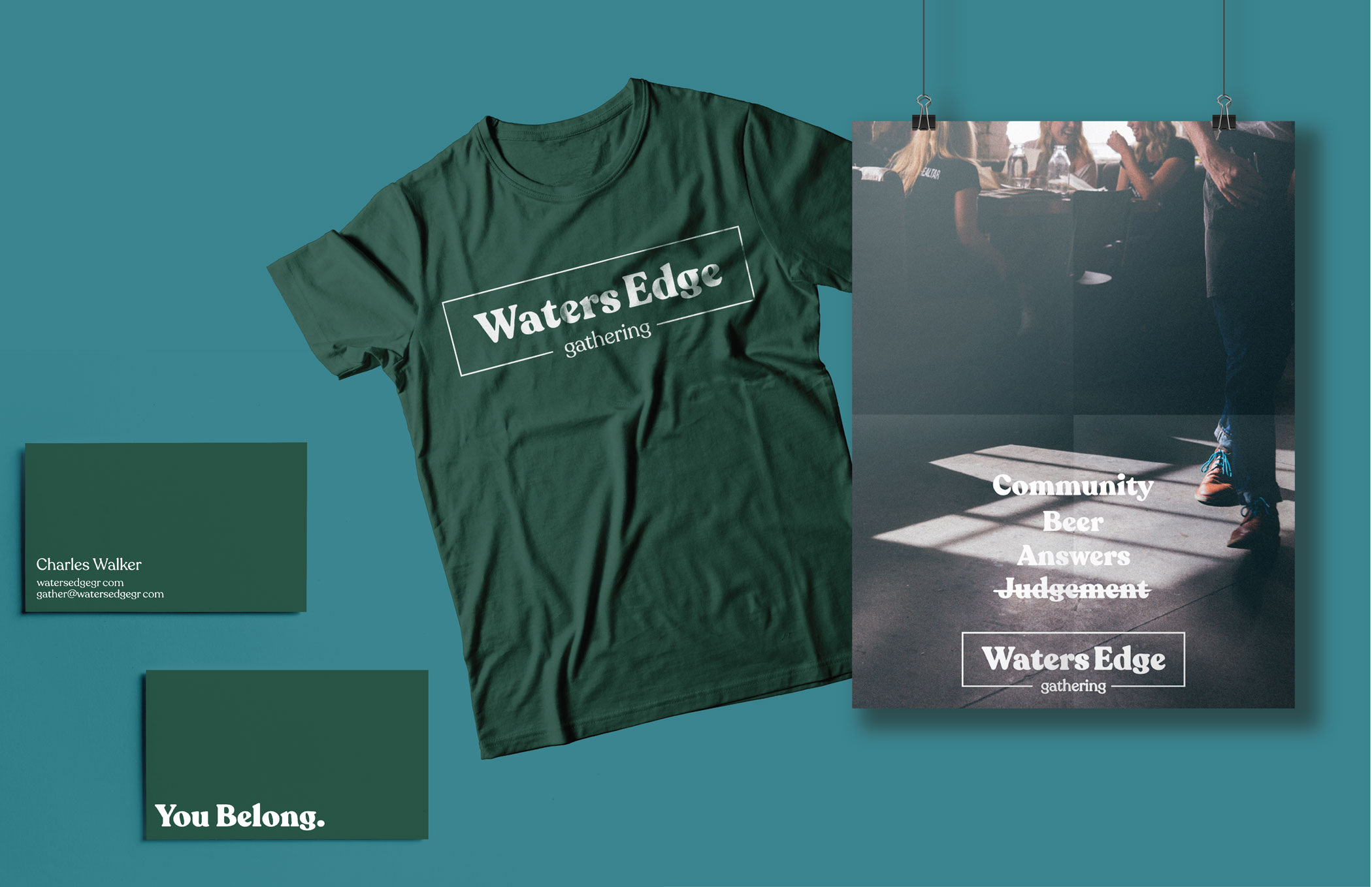 church branding design posters and shirts Grand Rapids michigan