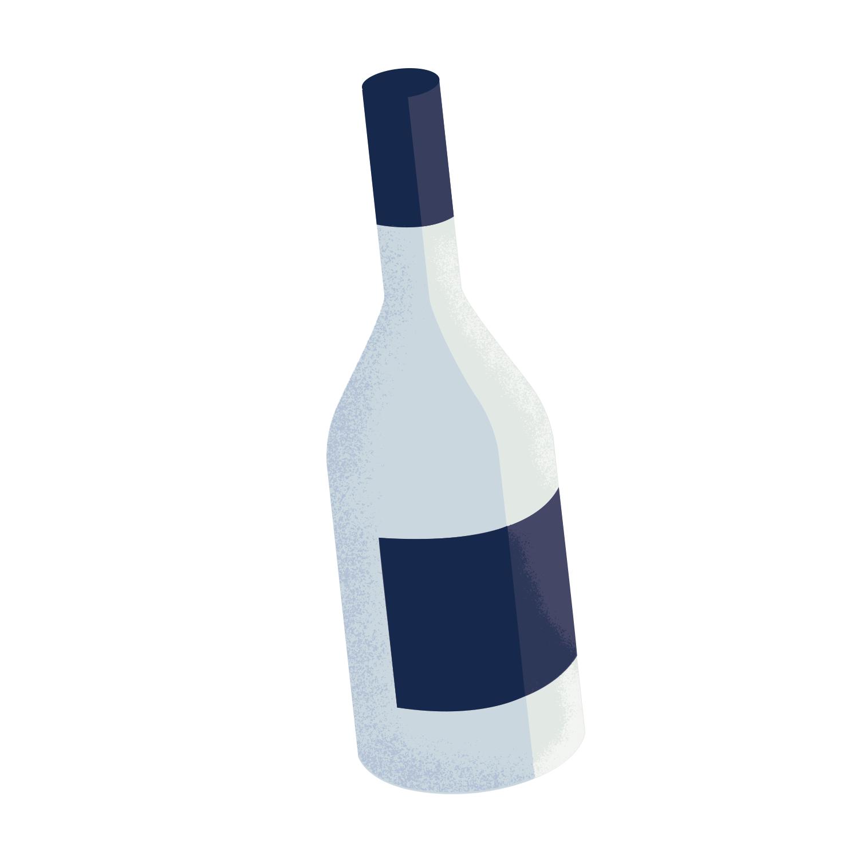 cute wine bottle illustration