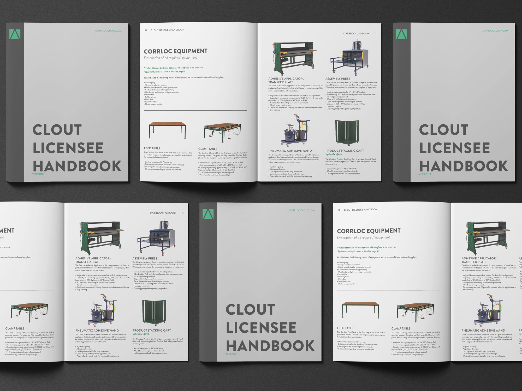 handbook design clean minimal layout