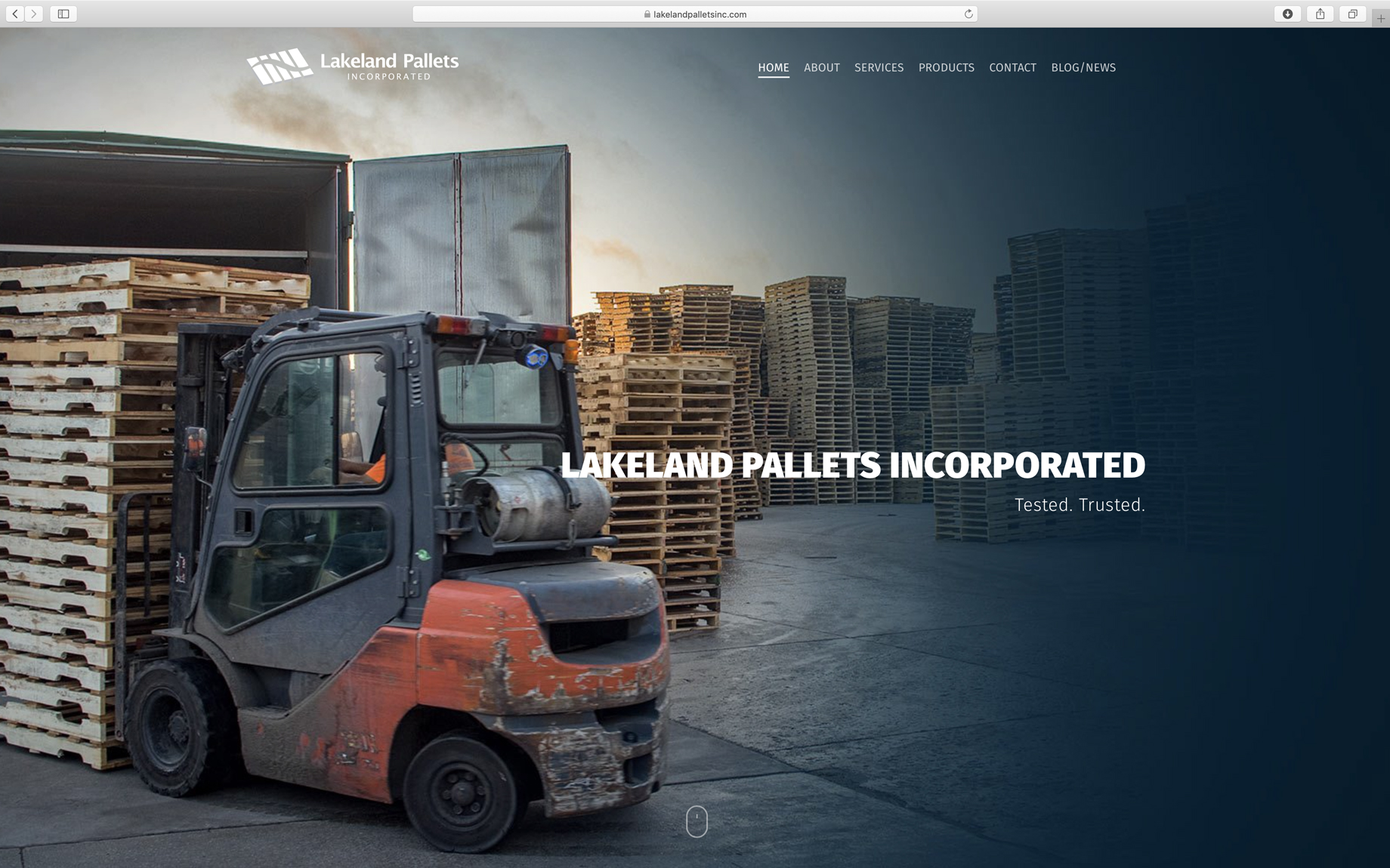 minimal homepage design industrial with high-quality custom photography